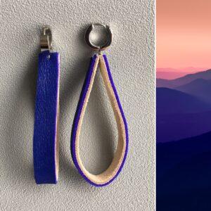 Kolczyki skórzane minimalizm