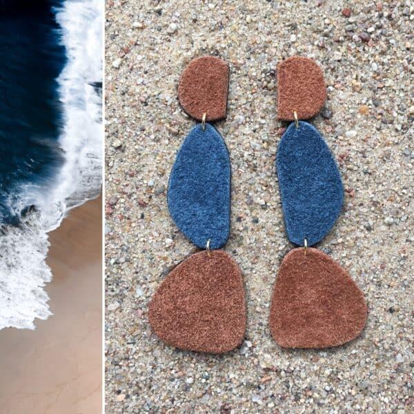 Kolczyki naturalne kamienie