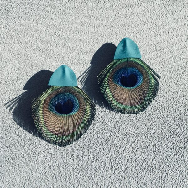 Kolczyki pawie pióra