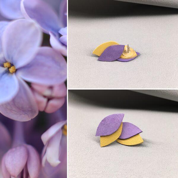 Kolczyki drobne listki